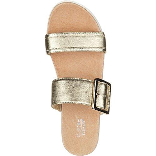 Dr. Scholls Kvinnor Krage - Ursprungliga Samlingen Platina Läder Sandal 8 M