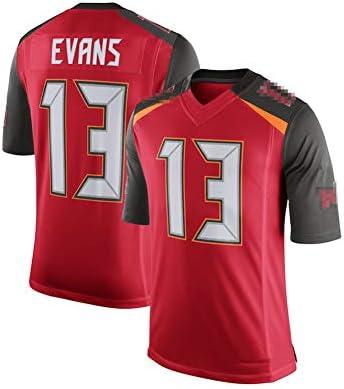 パイレーツ13#EVANSラグビーのユニフォーム、刺繍のユニフォーム、ファンのユニフォーム、フィット、毎日、スポーツ-XL