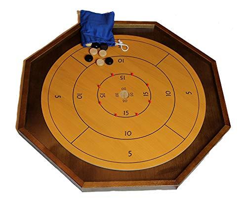 Crokinole Board Game Table - 26 inch with Board Wax