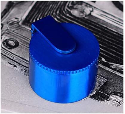 ポータブルミニカーパーソナリティクリエイティブオールメタルトレンド環境保護フルメタル日本語版灰皿4×2.8センチ YCHAOYUE (Color : Blue)