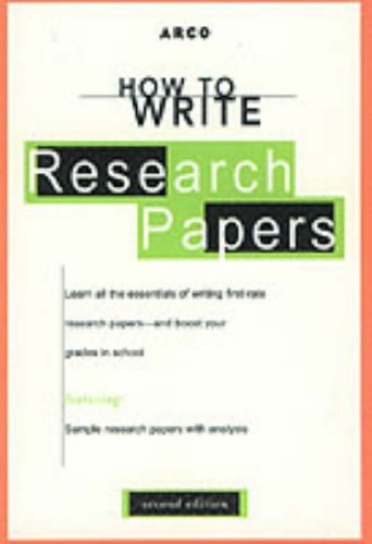 McGraw-Hill's concise guide to writing research papers.
