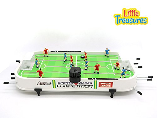 Rod Soccer (Mini-Soccer Shootout Table Play Set from Little Treasures with 6 Players per Side Allowing For Exciting One-on-One Table Soccer)