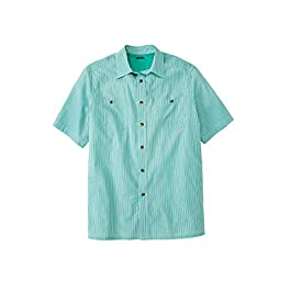 KingSize Men's Big & Tall Short Sleeve Striped Shirt