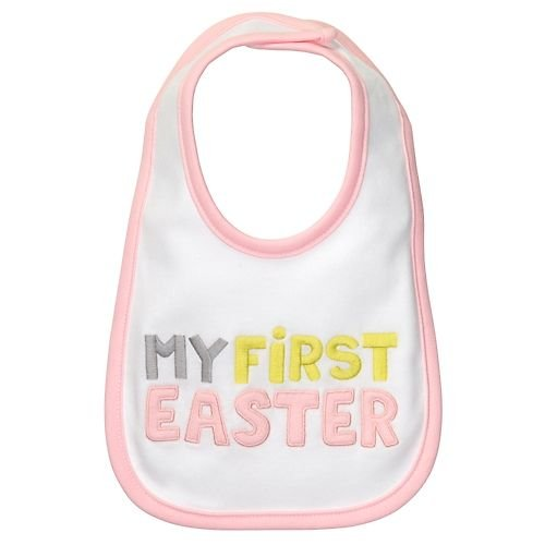 Carter's Dribble Happy Bib - My First Easter - Pink