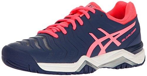 ASICS Women's Gel-Challenger 11 Tennis Shoe, Indigo Blue/Diva Pink/Silver, 11.5 M US (Asics Challenger Gel)