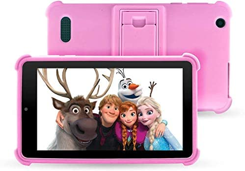 "Venturer Small Wonder 7"" Android Kids Tablet with Disney Books, Bumper Case & Google Play, 16GB Storage & 2GB RAM (Pink)"