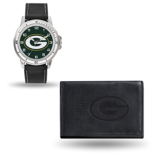 Rico NFL Men's Watch and Wallet Set WTWAWA3301, Green Bay Packers