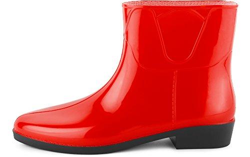 Mujer Botines Ladeheid Rojo Agua Botas De Lazt201801 Zapatos d4qTXwq