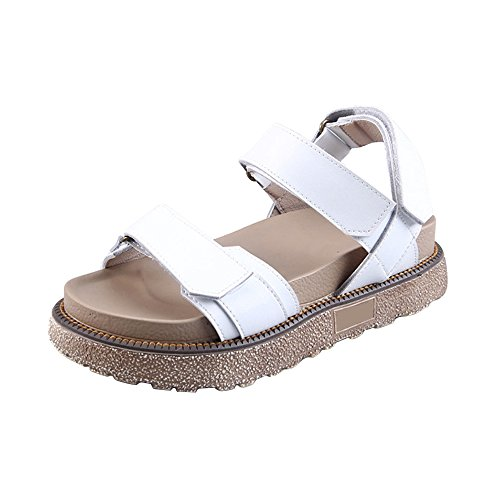 Women Strappy Beach Casual Holiday Shoes #02 White