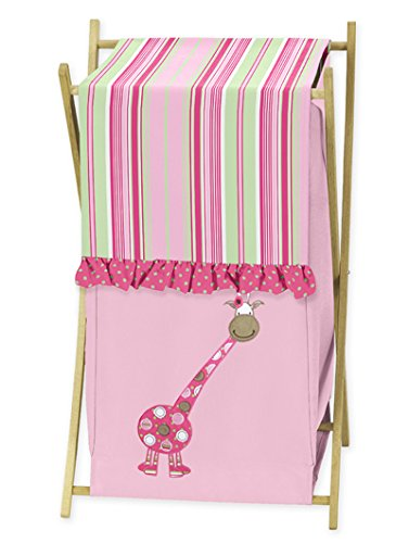 Sweet Jojo Designs Baby and Kids Clothes Laundry Hamper for for Pink and Green Jungle Friends Bedding by Sweet Jojo Designs (Image #4)