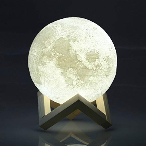 - Fedi Apparel Luna Moon Lamp Night Light Two Colors 3D Printed Lunar Moonlight Lamp LED Dimmable Touch Bedside Table Lamp Rechargeable Baby Lamp for Kid Bedroom Novelty Lights, Creative Gifts for Mom