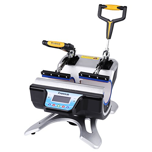 Cup Mug Heat Press, Doulbe Station ST-210 and 5 in 1 Sublimation Transfer Pringting Machine with 2 Cup Pads for 6oz 9oz 11oz 12oz 17oz Coffee Cup Heat Press