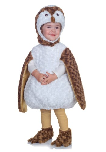 Underwraps Costumes Baby's Barn Owl Belly-Babies, White/Brown/Tan, Medium -