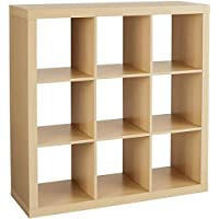 Better Homes and Gardens 9-cube Organizer Storage Bookcase Bookshelf Cabinet Divider Multiple Colors - Birch