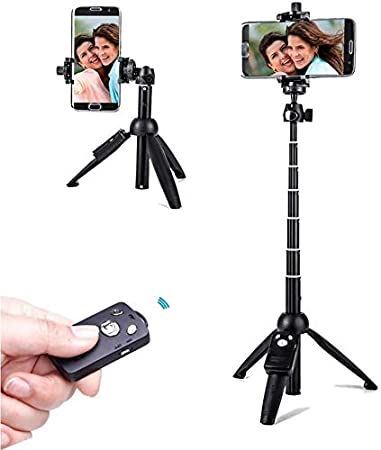 WORLDMOM Selfie Stick Tripod with Wireless Remote Control 40 Inch Extendable, Compatible with iPhone 12 11 XS Max XR X 8 8 Plus,Samsung Galaxy S20 S8 S9 S10 Note 8 9 20, Huawei Honor P30 P40.