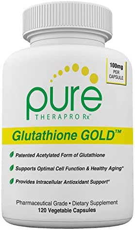S-Acetyl Glutathione Gold - 120 Vcaps (Enteric Coated) | 100mg Per Capsule | Patented Acetylated Form of Glutathione (Emothion®) | 2-4 Month Supply | Zero Fillers/Flow Agents | Pharmaceutical Grade