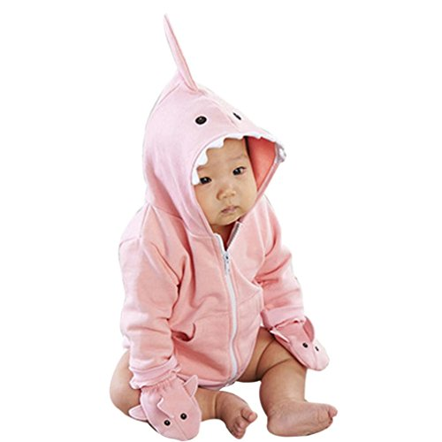Tenworld Baby Doll Clothes Unisex Boys Girls Shark Coat Winter Outerwear (24M)