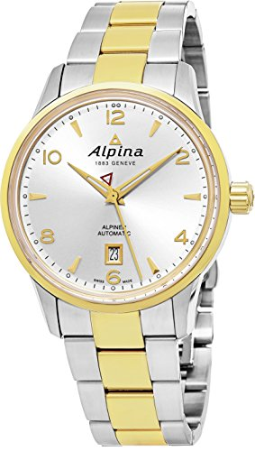 Alpina Alpiner Automatic Mens Two Tone Stainless Steel Swiss Watch - 41mm Silver Face Alpina Watch AL-525S4E3B