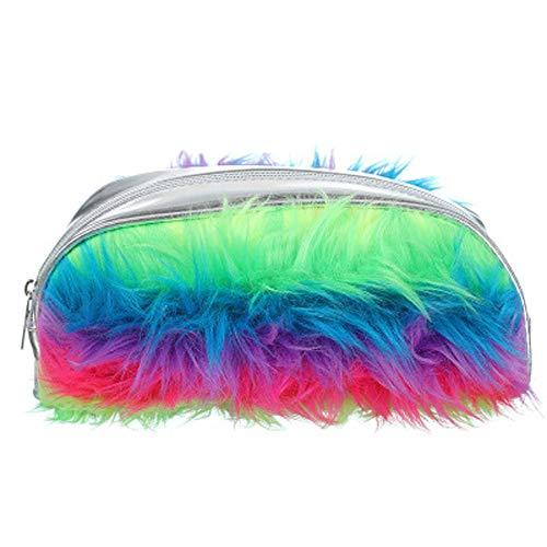 Wallet For Women Small,Women Student Faux Fur Laser Zipper Clutch Bag Makeup Cosmetic Pouch Pen - Pouch Fur Elephant Faux