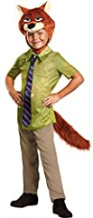 From the largest elephant to the smallest shrew, the city of Zootopia is a mammal metropolis where various animals live and thrive. Your child can look like sly fox Nick Wilde with this great costume. Costume includes: Jumpsuit and headpiece....