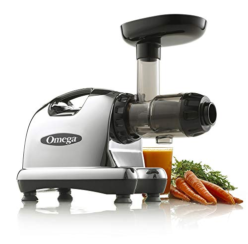 Omega J8006 Nutrition Center Masticating Dual-Stage Juicer, Metallic