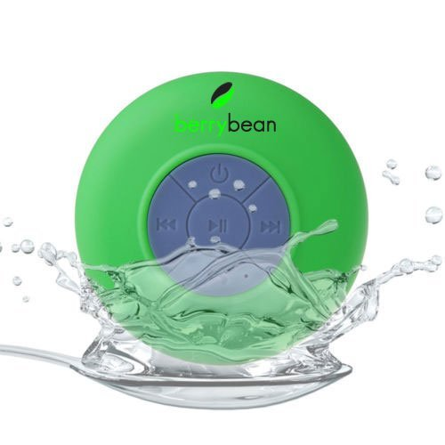 - BerryBean BELLE Mini Portable Waterproof Bluetooth 3.0 Wireless Stereo Speaker w Suction Cup works with all Bluetooth Devices (Spring Green)