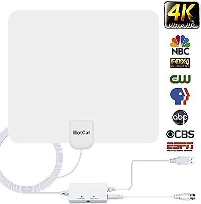 Antena HDTV, amplificador de señal de 120 millas de rango de 120 millas para canales locales