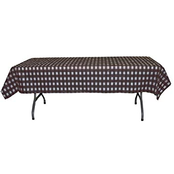 12 Pack Printed Black Gingham Checkerboard Plastic Table Cover