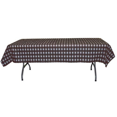 12-Pack Printed Black Gingham Checkerboard plastic table cov