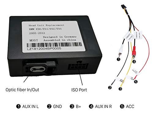 Car Stereo Radio Optical Fiber Decoder Most Box for BMW E90/E91/E92/E93 2005-2012 M3 3 Series by Fly Flag (Image #1)