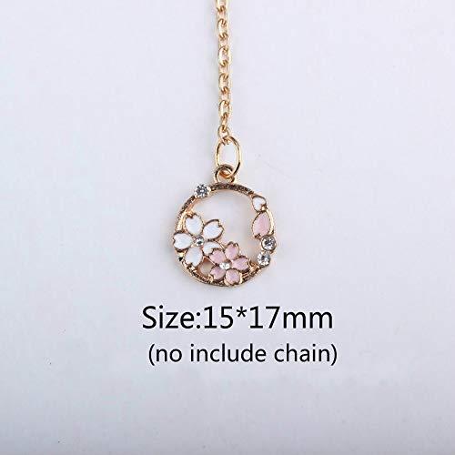 Man Lammers - 10pcs Gold Color Tone Alloy Flower Wreath Enamel Charms DIY Pendant Enamel Moon Star Charms For Necklace Bracelet
