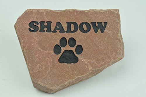 GraphicRocks Personalized Red Stone Pet Memorial Headstone
