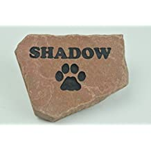 Personalized Red Stone Pet Memorial Headstone Grave Marker Dog Cat