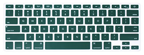 Silicone Keyboard Protective Skin Protector Cover for MacBook Air 13 inch A1369 A1466 & 2015 Versions or Older Versions MacBook Pro 13 15 inch (with or without Retina Display) - Dark Green (Difference Between Macbook Pro With Retina Display)