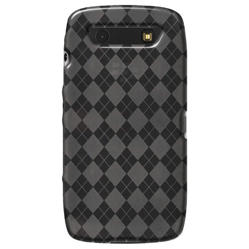 Amzer Luxe Argyle - Carcasa blanda de TPU para BlackBerry Torch 9850, acabado satinado, color gris