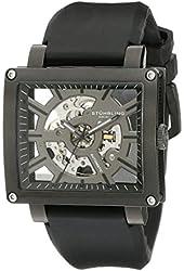 Stuhrling Original Men's 257.ST.335654 Classic Metropolis Axis Automatic Skeleton Black Watch