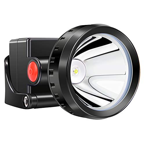 Kohree 3W KL2.8LM LED Miner Headlight Lamp 2000/15000 Lux Mining Light Cap Lamp Explosion Shock Proof-Perfect for Camping/Fishing/Hiking -