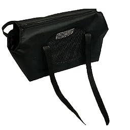 Juway Pets Cloth Traveller Crossbody Bag For Small Pets(Black,L)