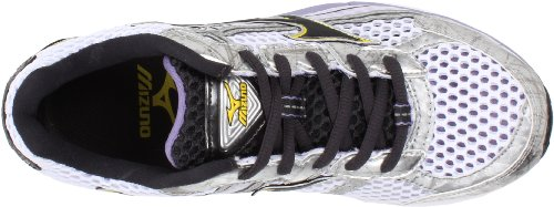 Mizuno Womens Wave Rider 15 Scarpa Da Corsa Bianco / Dark Shadow / Lavanda