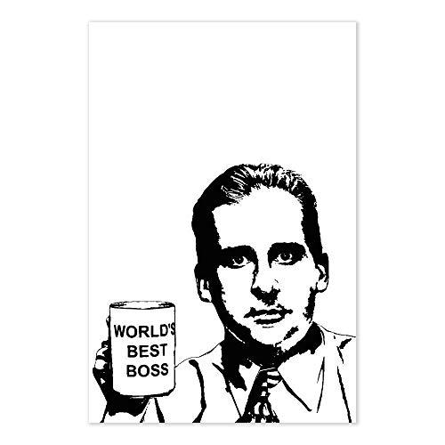 Michael Scott World's Best Boss Poster