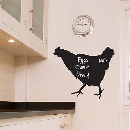 The Vinyl Biz Chicken Kitchen Chalkboard Wall Sticker Blackboard Wall Sticker Decals