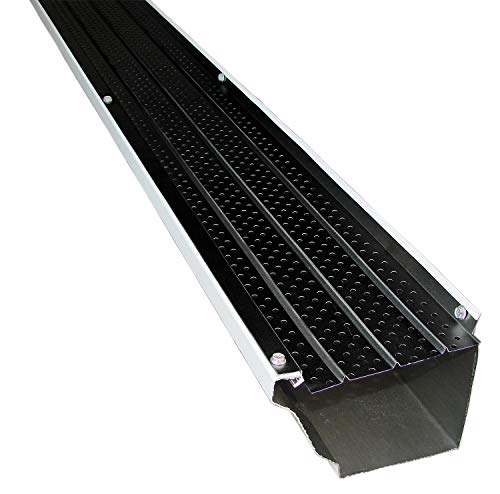 FlexxPoint 30 Year Gutter Cover System, Black Commercial 6