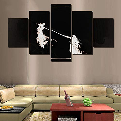 kkxdp Frameless Modern Canvas Hd Printed Poster Home Decoration 5 Pieces Final Fantasy Game Painting Wall Art Pictures Boy Room Modular Framed-A