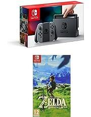 Nintendo Switch Grey with The Legend of Zelda: Breath of the Wild
