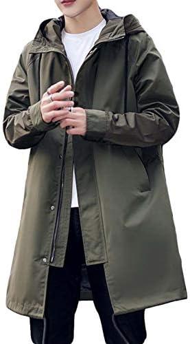 (バイバン)トレンチコート メンズ アウター ジャケット 韓国ファッション ブルゾン ゆったり ジャンパー フード付け ロング丈 長袖 薄手 春服
