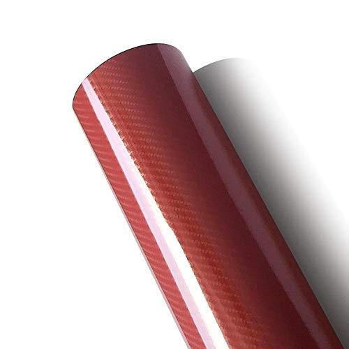 - AutoSpeed 5FT X 5FT Premium 5D HIGH Gloss RED Carbon Fiber Vinyl Wrap Bubble Free Air Release 60