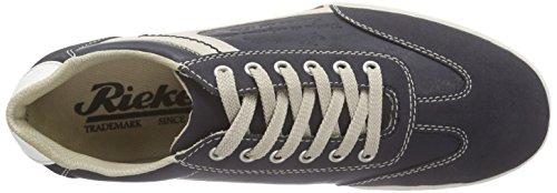 19112 Sneakers 14 Baskets Rieker weiss Blau Homme navy Bleu Basses chalk men atlantis qTdwFf