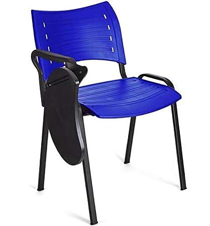 4x Silla confidente para oficina. Silla PVC, ideal para oficinas ...