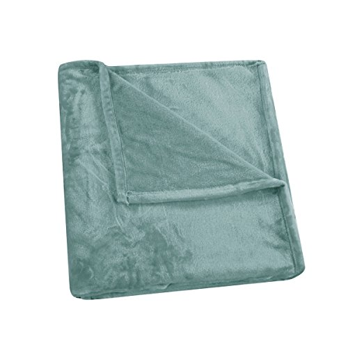 Minty Green - HONEYMOON HOME FASHIONS Flannel Soft Throw Blanket in 50
