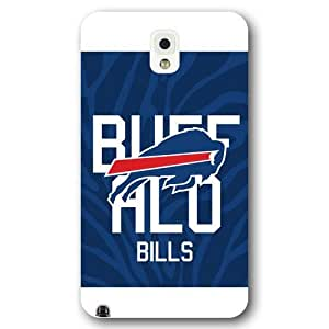 UniqueBox Customized NFL Series Case for Samsung Galaxy Note 3, NFL Team Buffalo Bills Logo Samsung Galaxy Note 3 Case, Only Fit for Samsung Galaxy Note 3 (White Frosted Shell)